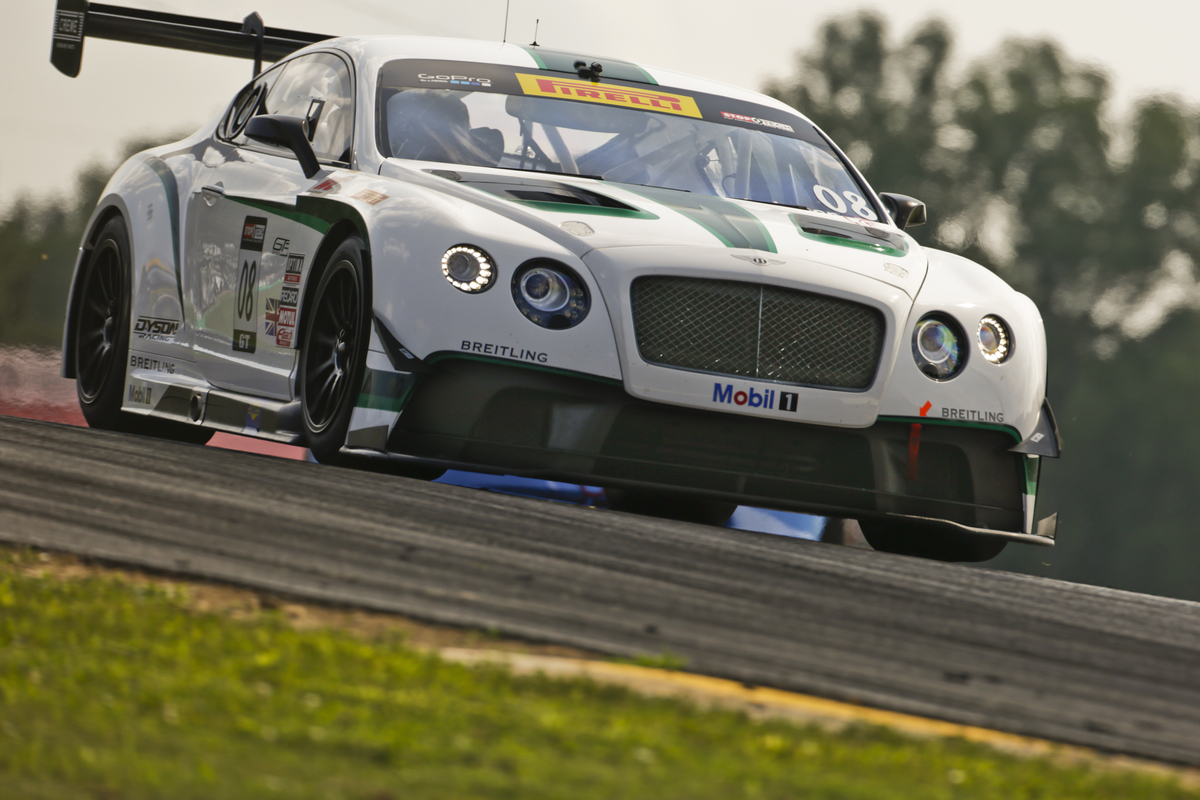 #08 Bentley Continental GT3 with Butch Leitzinger at MidOhio Pirelli World Challenge, Lexington Ohio, July 31-August 3 2014